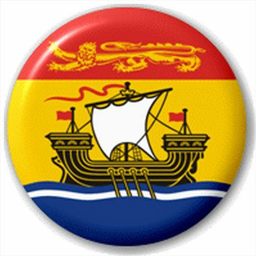 Canada Province Flag 25Mm Pin Button Badge Lapel Pin New Brunswick