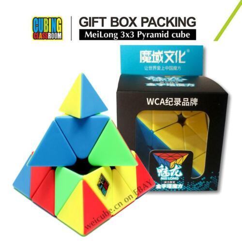 Moyu Charm Dragon Stickerless Speed 3x3 Triangle Pyramid Magic Cube MeiLong Toys