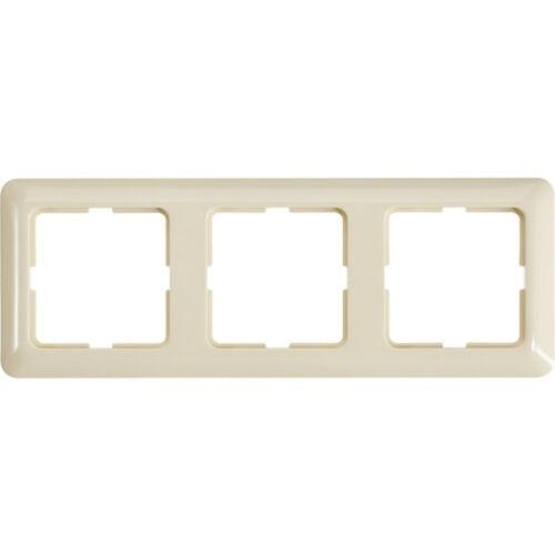 BERKER Module 2 3 Fois Cadre 101302 Blanc Brillant 3 fois Abdeckrahmen Blanc