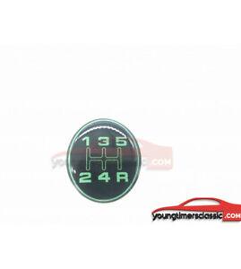 Pastille-205-pour-pommeau-de-vitesse-Pastille-Lisse-VERTE-GRIFFE-BE3