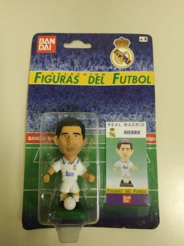 FIGURAS DEL FUTBOL BANDAI HIERRO REAL MADRID 1997 NUEVO VIEJO STOCK S9