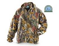 Sherbrooke Plus Camouflage Fleece Hooded Jacket Zipper Front Camo Hoodie Coat