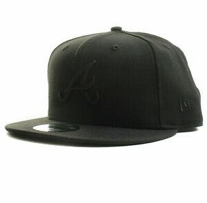 New-Era-9FORTY-MLB-Atlanta-Braves-The-LeagueBlack-Hat-Baseball-Cap