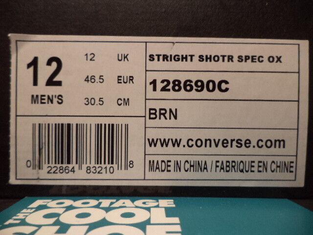 Converse Straight Shooter Spec Buey All-star marrón blancooo 128690c 128690c 128690c Ds Nuevo Talla 12 b446f9