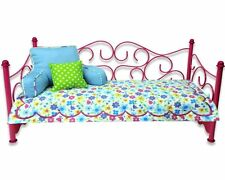 18 Inch Doll Bed Furniture with Mattress by Sophia's, Perfect for American Girl