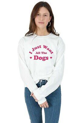 Fornitura Voglio Solo I Cani Maglione Felpa Divertente Regalo Di Natale Per Amante Dei Cani Carlino-mostra Il Titolo Originale