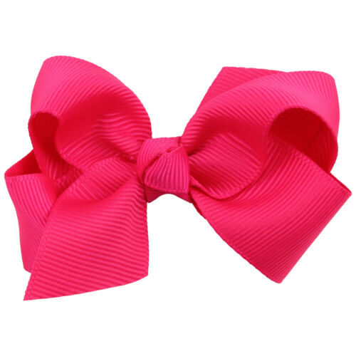 Hot 8cm Hair Accessory Knot Grosgrain Ribbon Hair Bow With Clip For Girl Baby