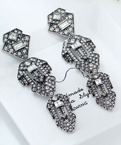 1-pair-Elegant-White-Crystal-Rhinestone-Ear-Drop-Dangle-Stud-long-Earrings-38