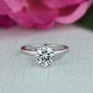 1-Ct-Solitaire-Diamant-Verlobungsring-Weissgold-Finish-Seelen-Versprechen