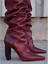 VETEMENTS-REFLECTOR-DARK-RED-LEATHER-SLOUCH-OVER-THE-KNEE-BOOTS-EU-40-US-10 thumbnail 3