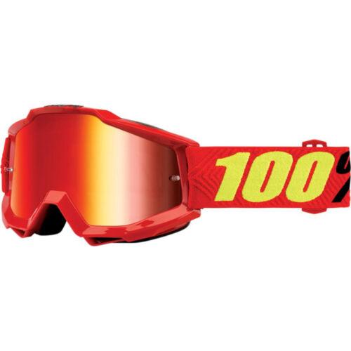 100/% MASCHERINA OCCHIALE ACCURI SAARINEN ROSSA RED MOTO CROSS ENDURO GOGGLE