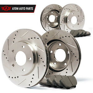 2003-2004-2005-2006-2007-Jeep-Liberty-Slotted-Drilled-Rotors-Ceramic-Pads-F-R
