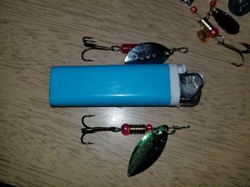 30Pcs Spinner Baits Crankbait Assorted Metal Fishing Lures Fish Hooks Tackl X2P4