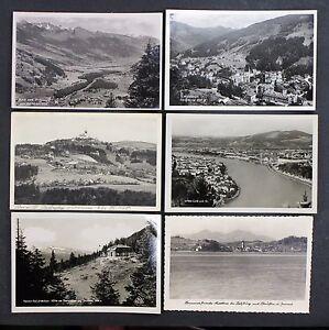 6-Postcards-Ak-Austria-Hofga-Stone-Linz-Dachstein-Lake-Salzburg-Lot-I-5072