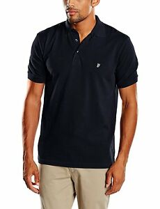 French Connection Men/'s Cotton Polo Shirt Jersey Top T-shirt New Red White Navy