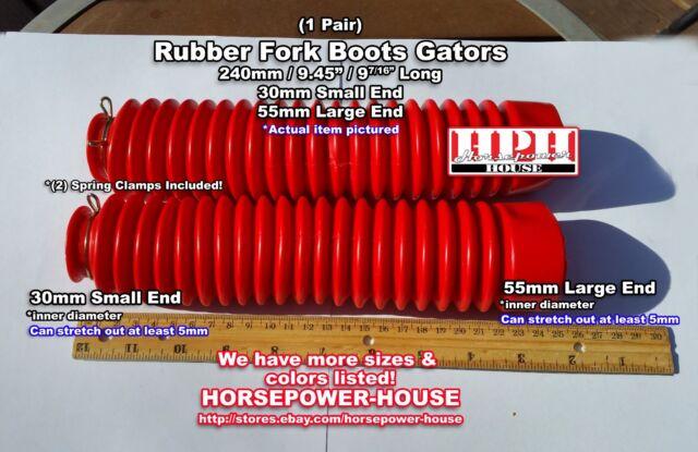 30mm Red Rubber Fork Boots Gators Gaiter @ Honda TR200 FatCat Fat Cat Fat Tire