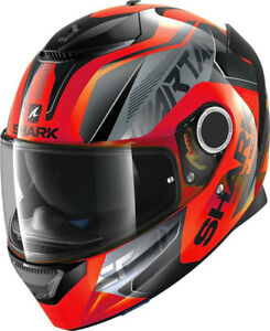 NEW-SHARK-Helm-Spartan-Karken-neon-orange-Gr-L-59-60-Motorradhelm-Sonnenblende