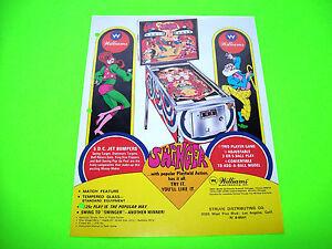 Williams-SWINGER-1972-Original-Flipper-Game-PINBALL-MACHINE-Promo-Sales-Flyer