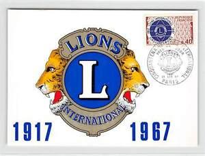 FRANCE-MK-1967-LIONS-CLUB-MAXIMUMKARTE-CARTE-MAXIMUM-CARD-MC-CM-d9856