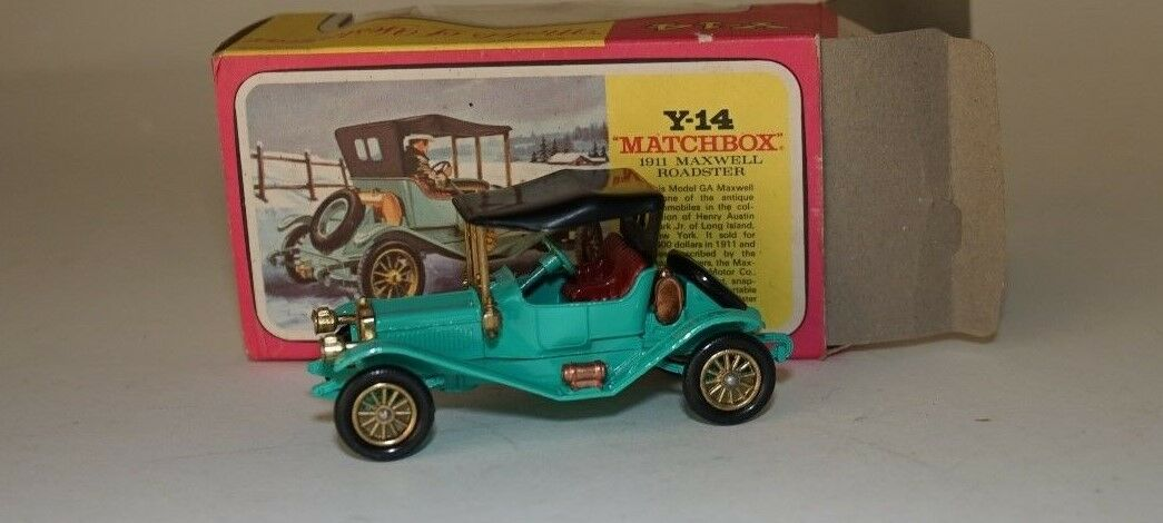 Matchbox Y-14-10 1911 1911 1911 Maxwell Roadster with dark red seats in 1 49 scale ee7fb2