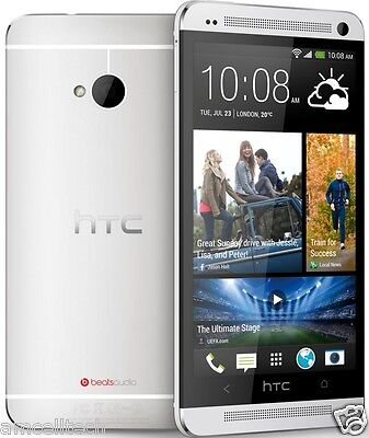 """""""NEW"""" HTC One M7 PN07120 AT&T UNLOCKED 4G LTE Android 4.1 32GB Smartphone Silver"""