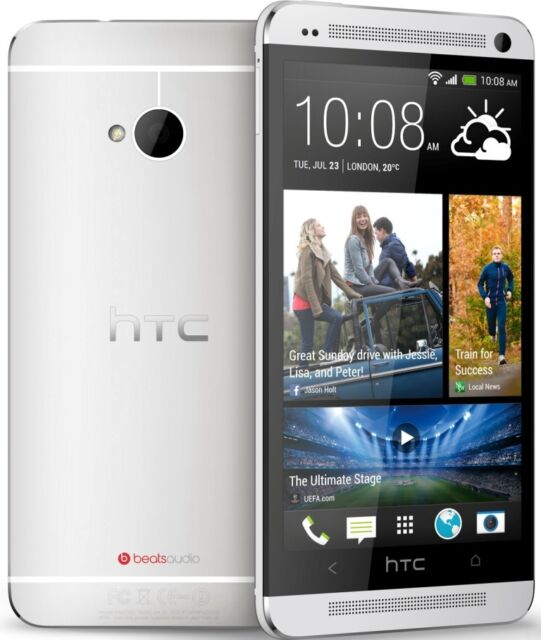 HTC One M7 PN07120 AT&T UNLOCKED LTE Android 4.1 32GB Smartphone Silver USED