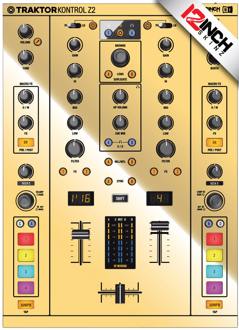 Native Instruments Z2 Skin mirror Gold