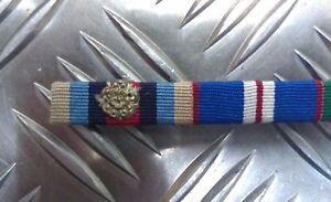 Genuine-British-Military-Issue-Medal-Ribbon-Bar-Metal-Rosette-Decoration-NEW