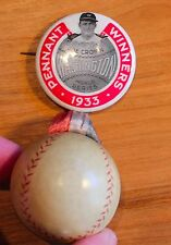 1933 World Series Joe Cronin Pennant Winners Washington Senators Pin With Ball
