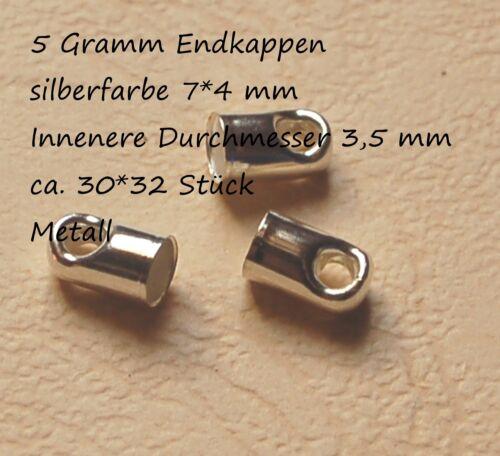 Endstück Kettenabschluß Brass Cord Ends Endkappen für Schlauch und Bäder Bandab
