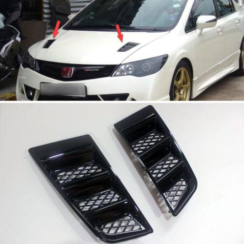 Front Bonnet Vent Hood Vent RR Style Universal for Honda Civic 8th 9th Unpainted