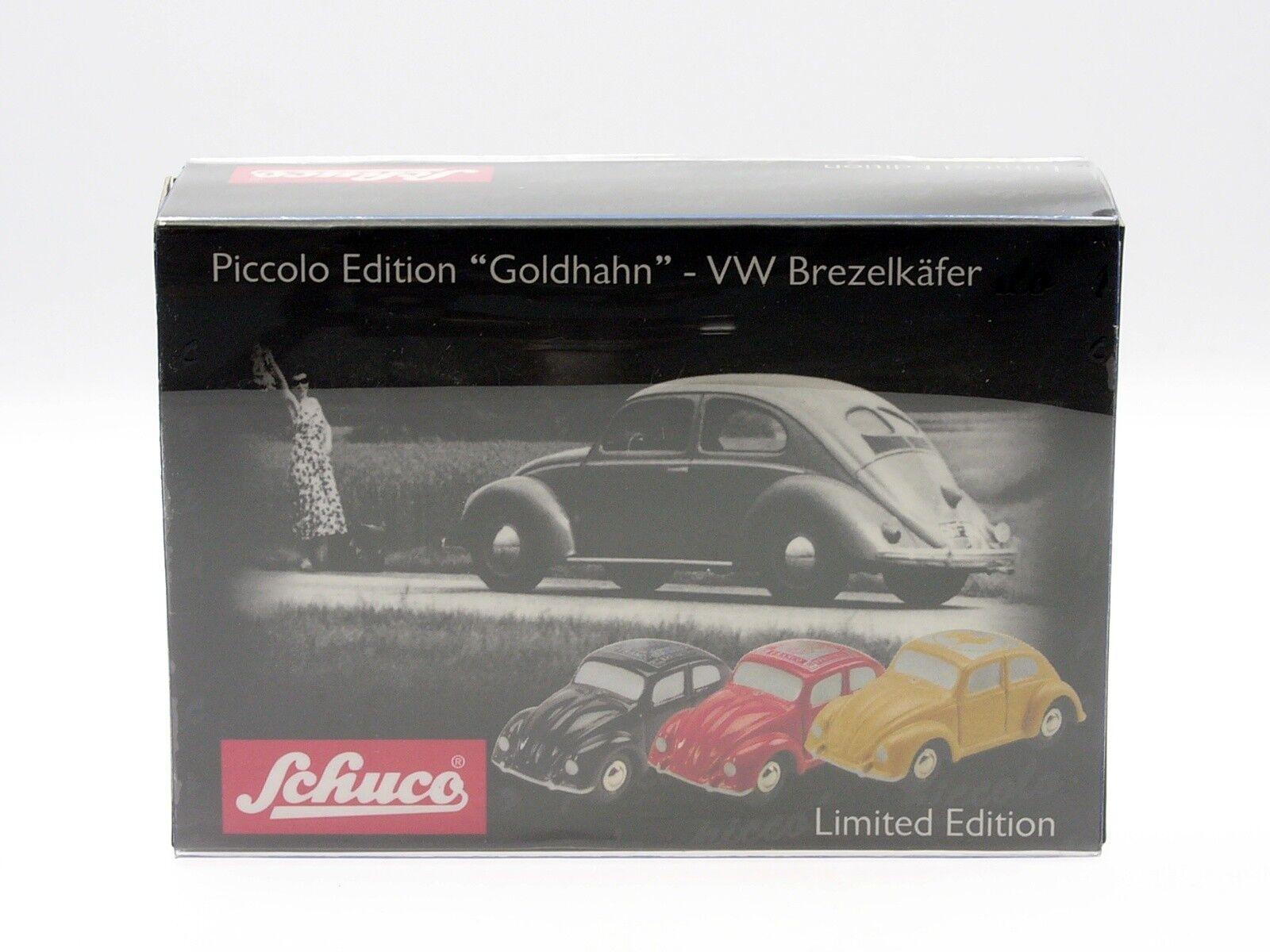 Schuco Schuco Schuco Piccolo VW Brezelkäfer black  goldhahn  3b9873
