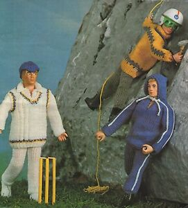 Free Knitting Patterns For Action Man Dolls : VINTAGE KNITTING PATTERN TO MAKE ACTION MAN SINDY PAUL DOLLS CLOTHES