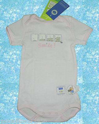 NEU Schiesser Babybody Kurzarm Baby Body mit UV-Schutz Größe 56 62 Bärchen