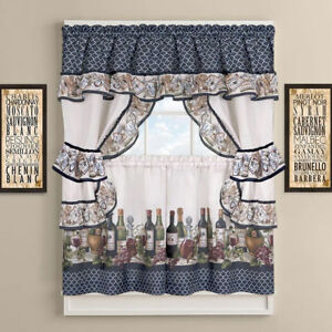 French-Chateau-Complete-Cottage-Kitchen-Curtain-Set-by-GoodGram-Assorted-Sizes