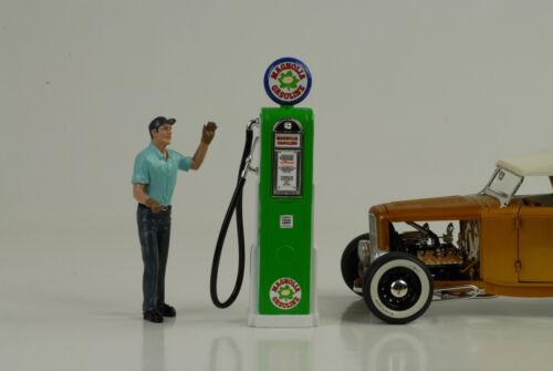 Tanksäule pompe a essence Magnolia Gasoline 1:18 no car Figur petrol pump