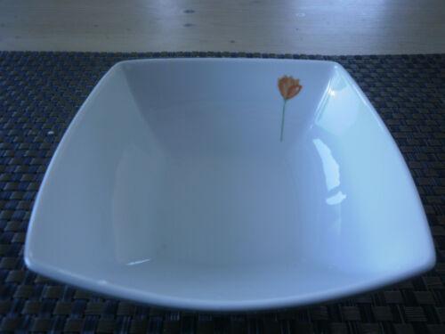Dessertschale 14 cm eckig Temptation La Fleur Orange Eschenbach Porzellan Neu