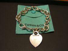TIFFANY & CO WOMENS STERLING SILVER HEART BRACELET PRE-OWNED WOW!