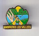 RARE PINS PIN'S .. TOURISME CAMPING CAR CARAVANE AMBRIERES LES VALLEES 53 ~BT
