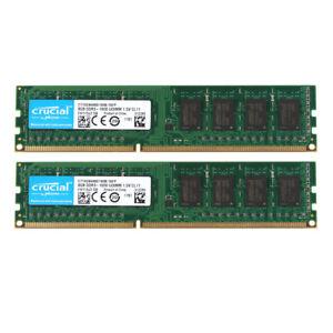 Crucial-16GB-2x-8GB-PC3-12800U-2RX8-DDR3-1600MHz-DIMM-RAM-Desktop-Speicher-Intel