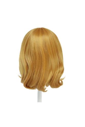 12/'/' Short Fluffy Bob Cut with Short Bangs Pumpkin Orange Cosplay Mirai Wig NEW
