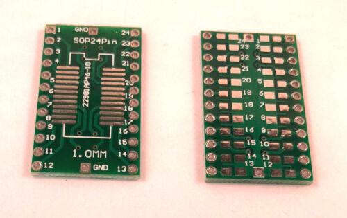5x SMD Adapterplatine  SOP24 auf DIP24 Industriequalität 1,00mm