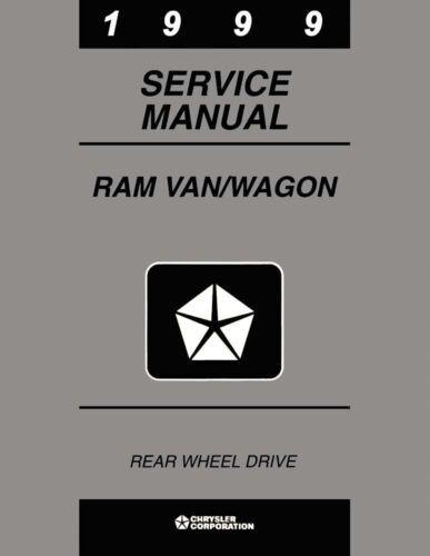 1999 Dodge Ram Van /& Wagon Shop Service Repair Manual
