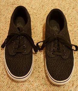 Vans Tc9r Sneakers Black Speckled Canvas Skate Shoes Men S Us 8 Uk 7 Ebay
