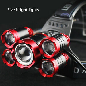 100000LM-5X-T6-LED-Headlamp-Rechargeable-Headlight-18650-Flashlight-Head-Torch-Y