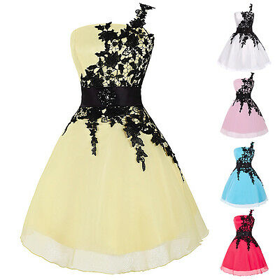 Applique Lace Wedding Dress Quinceanera Party Prom Evening Dance Short Ball Gown