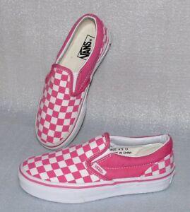Details zu Vans Calssic Slip On Kinder K'S Canvas Schuhe Freizeit Sneaker  31 UK13 Pink Weiß