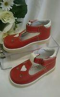 Baby Mädchen Fest Kinder Schuhe Hochzeit Made In Italy Gr. 22 Rot Leder Herz