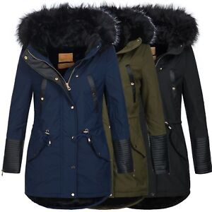 BOL-Damen-Jacke-Mantel-Winterjacke-Parka-warm-gefuettert-15651-S-XXL