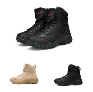 804500cbda8 Details about Mens Ankle Boots Army Tactical Comfort Desert Combat Military  Leather Shoes Chic